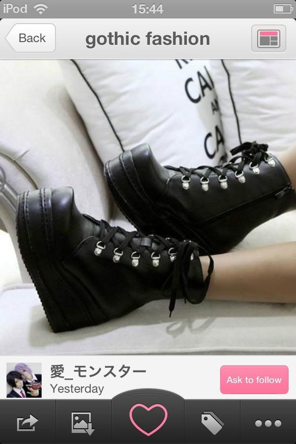 shoes black goth platform shoes