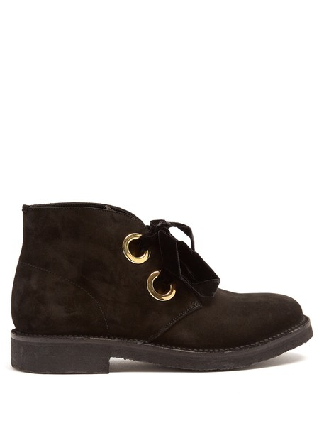 Rupert Sanderson suede ankle boots ankle boots suede black shoes