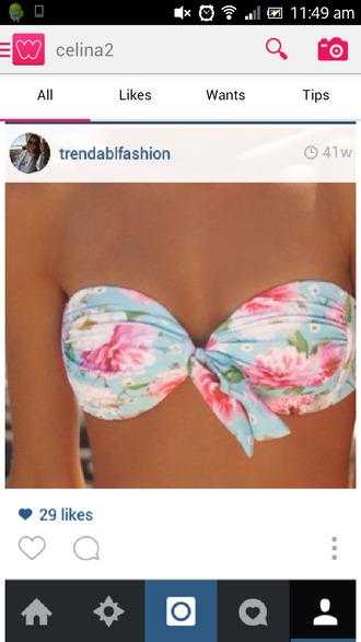 white colorful pink swimwear sweet blue bikini bikini