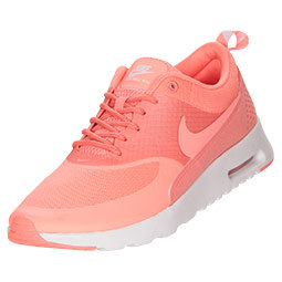 Women's nike air max thea in atomic pink and white with swarovski crystal details