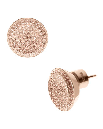 Michael Kors Pave Stud Earrings, Rose Golden - Michael Kors