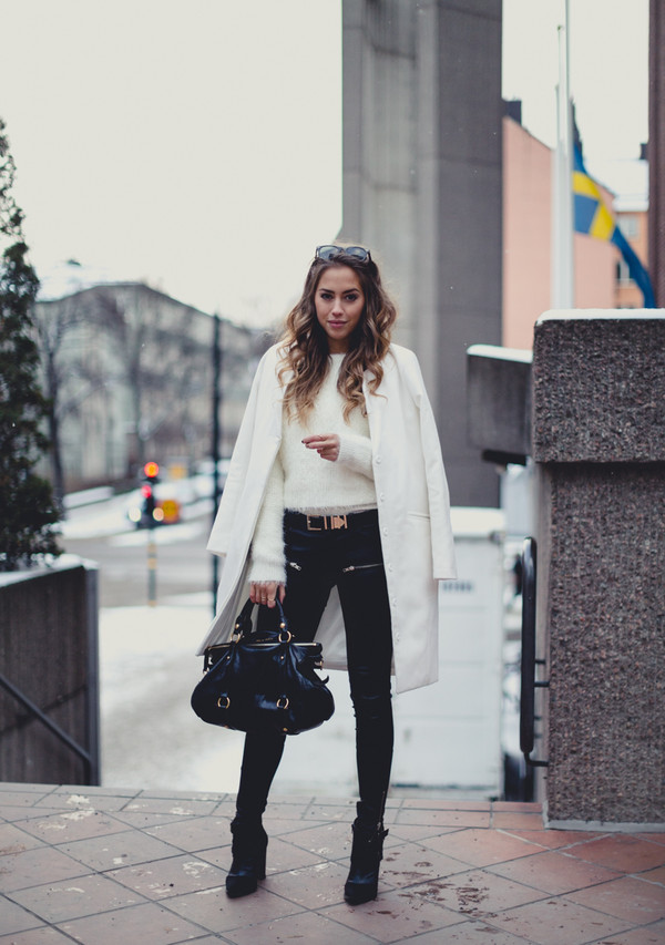 kenza pants sweater bag shoes coat jewels