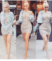 dress,sexy,flawless,cute,glitter,see-though dress,kylie jenner,instagram