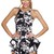 Multi Jump Suits/Rompers - Black & White Floral Print | UsTrendy