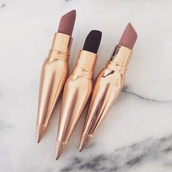 make-up,lipstick,gold,tube,lips,nude,face makeup,dark lipstick,pink lipstick,truebeautyg,black lipstick,lip gloss,nude lipstick,cute,pretty,lipsticks