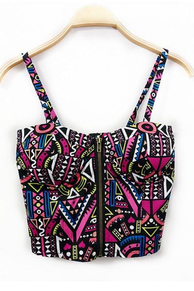 KCLOTH Vintage Zigzag Pattern Vest