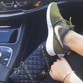 shoes,sneak,logo,green,khaki,khaki sneakers,nike,new,nike shoes,musthave,lovely,instagram,twitter,nike sneakers,sneakers,nike running shoes,roshe runs,roshes,nike roshe run,olive green