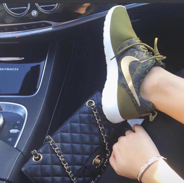 shoes sneak logo green khaki khaki sneakers nike new nike shoes musthave lovely instagram twitter nike sneakers sneakers nike running shoes roshe runs roshes nike roshe run olive green
