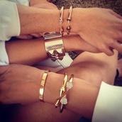jewels,arrow,jewelry,bracelets,stacked bracelets,spikes