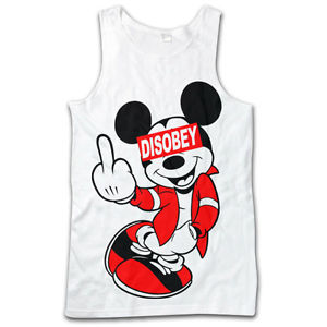 Mickey Middle Finger Mouse Drake DIS Obey Hands Dope T Shirt Tank TOP Vest S XXL | eBay