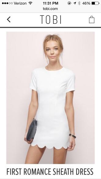 dress white sheath