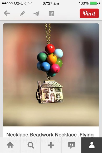 jewels necklace up balloons house colourful