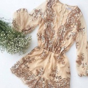 dress,romper,classy,gold,glitter,see through,cute,spring,summer,accessories,pretty,prom dress