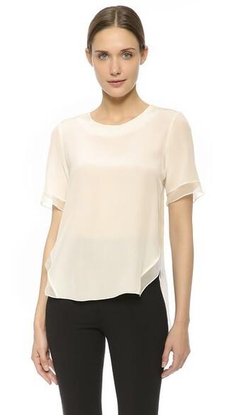 blouse short silk top