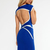 Blue Mini Dress - Quontum Blue Backless Wrap Strap | UsTrendy