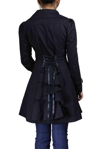 Corset Backed Ruffled Jacket