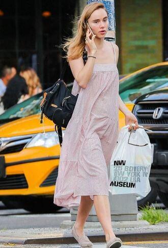 bag suki waterhouse dress maxi dress flat sandals phone shoes