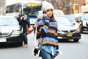 stripes,sweater,orange,blue