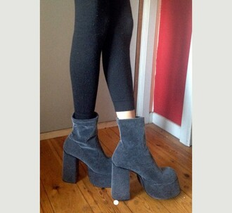 shoes boots vintage 80s style chunky chunky boots chuncky heels