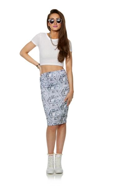 Honeycomb Diamond Skirt - Streetwear