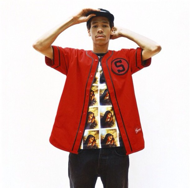 official photos e6a85 4f9da supreme shirts baseball jersey red black supreme baseball tee
