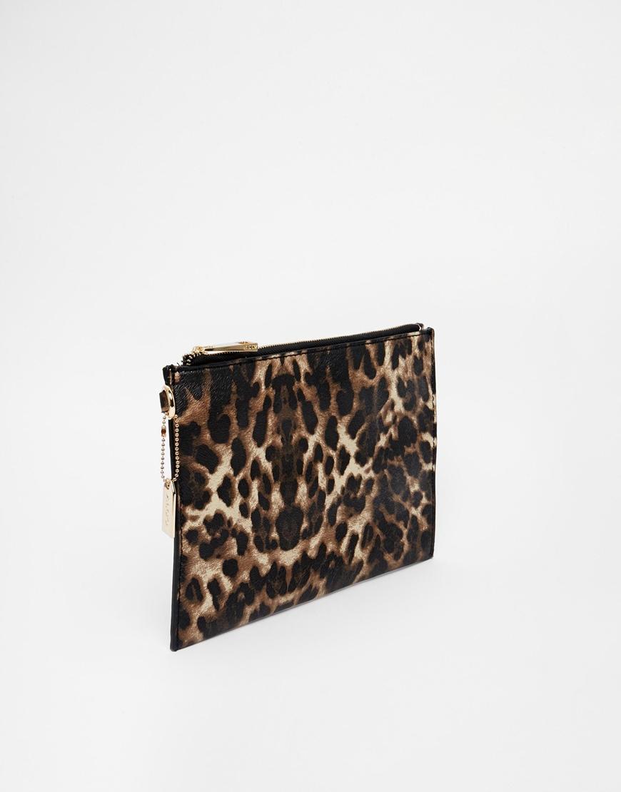e45cfd817db ALDO Gadoni Clutch Bag In Leopard Print at asos.com