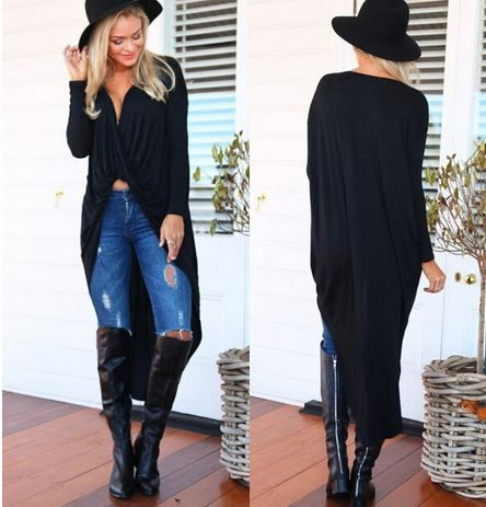 Asymmetrical tabbie blouse