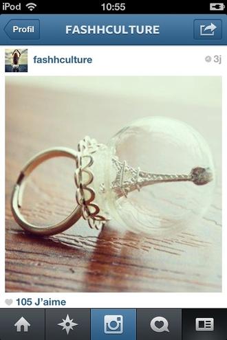 jewels ring paris snow globe