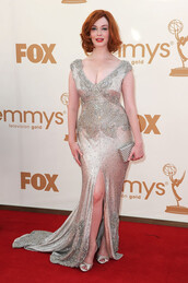 dress,long prom dress,cute dress,sequins,christina hendricks