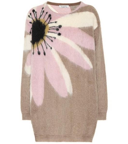 Valentino Mohair-blend sweater in beige / beige