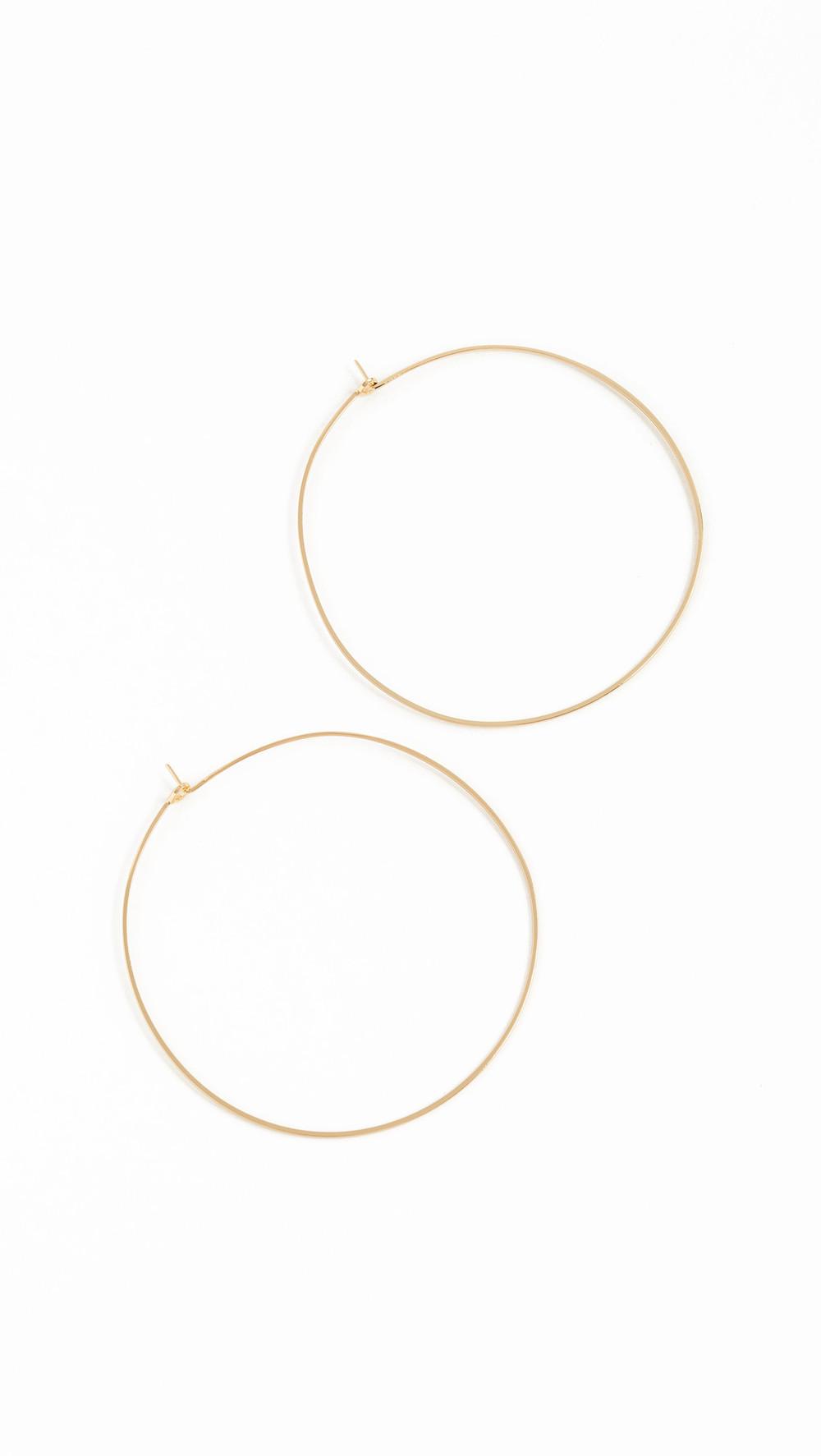 Luv Aj Capri Hoop Earrings in gold