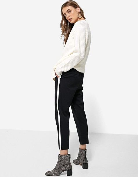 Stradivarius black pants