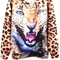 Multi print top - angry leopard sweatshirt | ustrendy