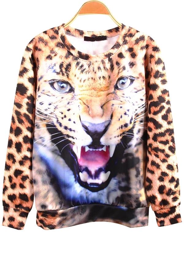 Angry leopard sweatshirt