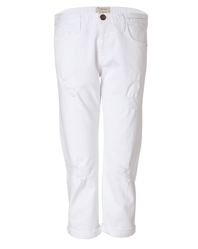 WhiteCottonSugarDestroyedJeansfromCURRENT/ELLIOTT | Luxury fashion online | STYLEBOP.com