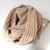 beige infinity scarf , women, men scarves, winter trends, fashion accessories, gift ideas