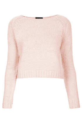 Knitted Fluffy Crop Jumper Knitwear Clothing Topshop