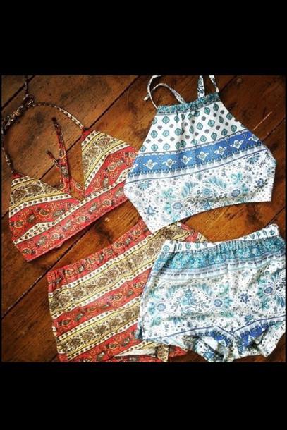 shorts tank top swimwear blouse shirt boho shirt boho shorts outfit jumpsuit style t-shirt