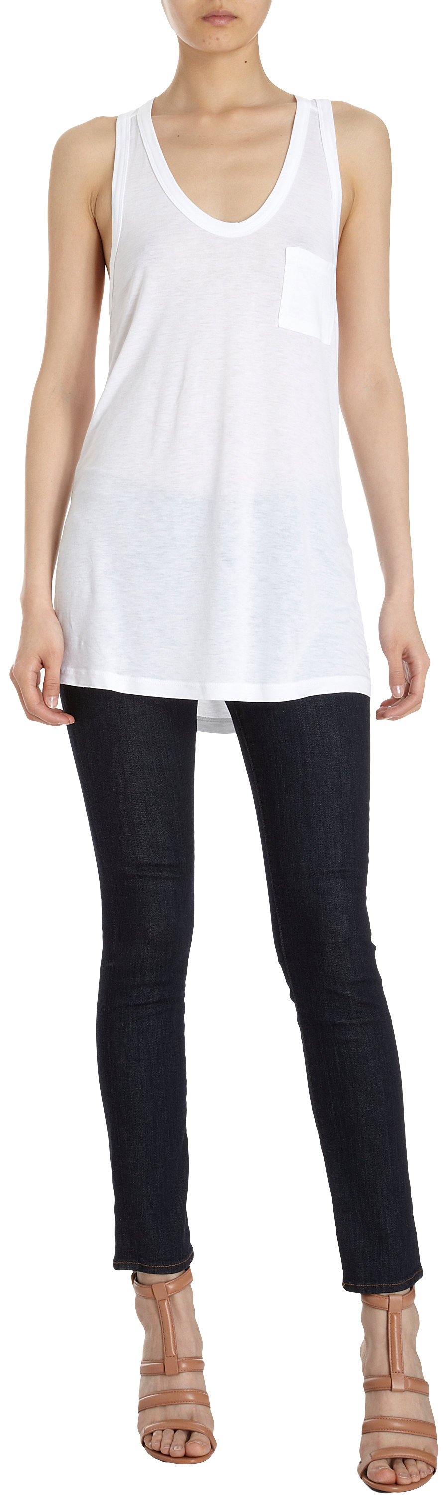 T by Alexander Wang Classic Pocket Tank at Barneys.com