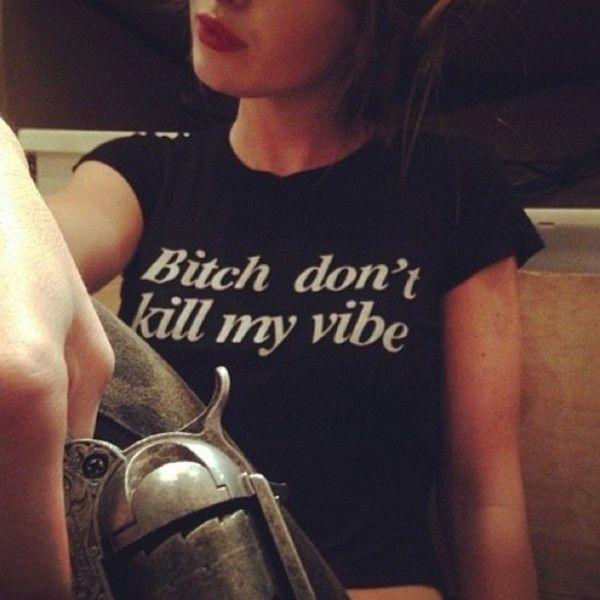 Brandy Melville Bitch Don'T Kill My Vibe Graphic Tee | eBay