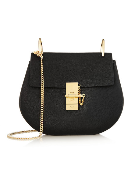 Chloe bag shoulder bag leather black