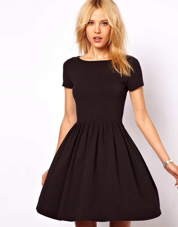 dress little black dress black skater dress short black dress