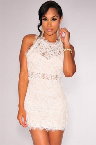 dress mini sexy wots-hot-right-now white floral lace nude illusion midi dress lace dress lace white mini dress embroidered sleeveless