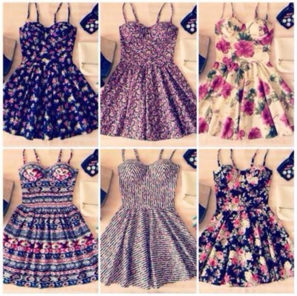 dress color/pattern flowers floral dress