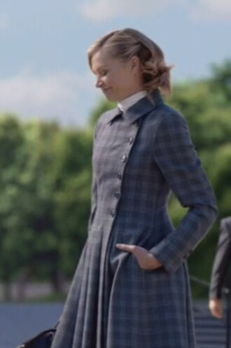coat wool plaid scandal elizabeth north portia de rossi