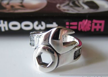 925 Sterling Silver Spanner Ring - Wishbop.com