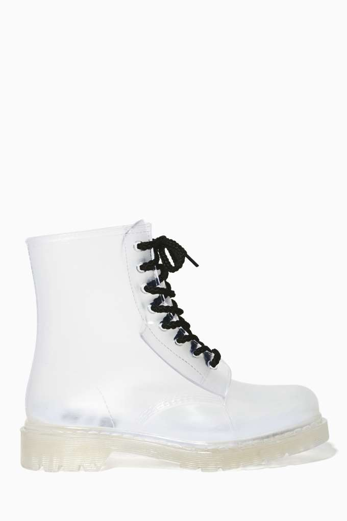 YRU Seattle Clear Rainboot in  What's New Shoes at Nasty Gal