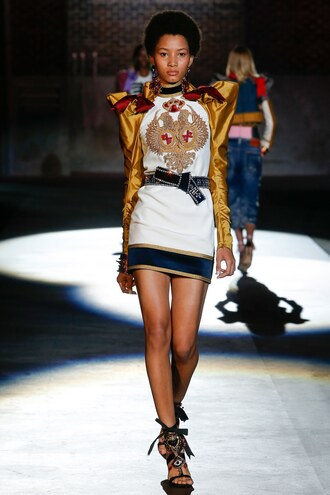 dress mini dress dsquared milan fashion week 2016 runway
