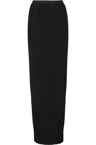 skirt maxi skirt maxi black silk