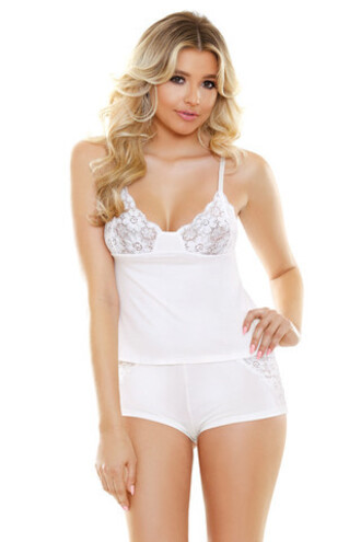 shorts fantasy lingerie white luxury cami lace shorts set lingerie bikiniluxe